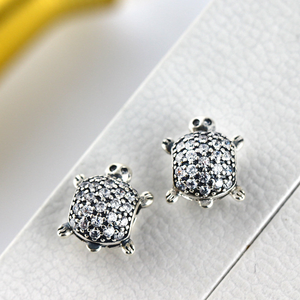 9e702a61d ... best price pandora silver sea turtle charm with clear cz 6b310 cd6f5