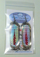 "Two-Pak ""FishOn!"" Trolling Dodger Collection Size 000 (4 1/2"") for Trout, Kokanee & Walleye"