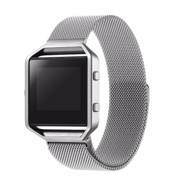 Touch Rage Milanese Loop, Magnetic Closure, for Fitbit Blaze Smartwatch, Silver