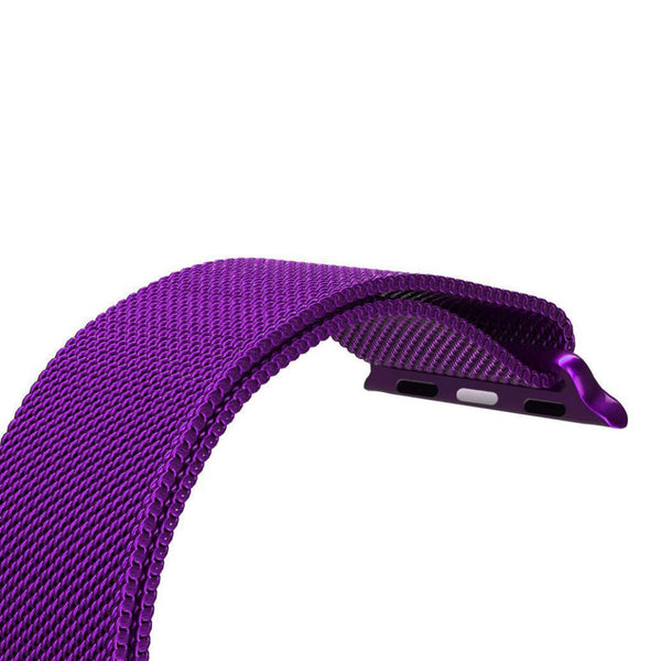 Touch Rage Milanese Loop, Magnetic Closure Clasp, for Series 1 and Series 2 Apple Watch,  Purple