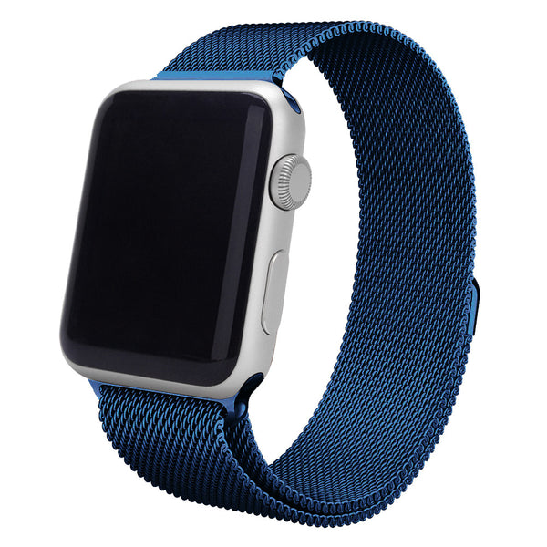 Touch Rage Milanese Loop, Magnetic Closure Clasp, for Series 1 and Series 2 Apple Watch, Blue