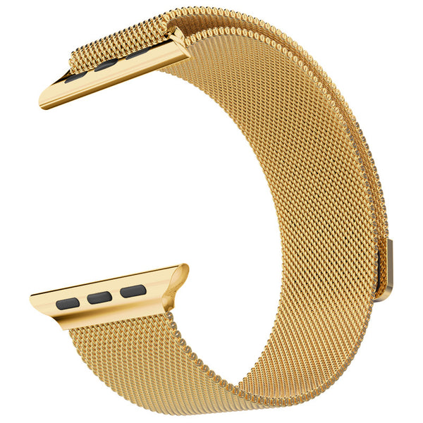 Touch Rage Milanese Loop, Magnetic Closure Clasp, for Series 1 and Series 2 Apple Watch, Gold