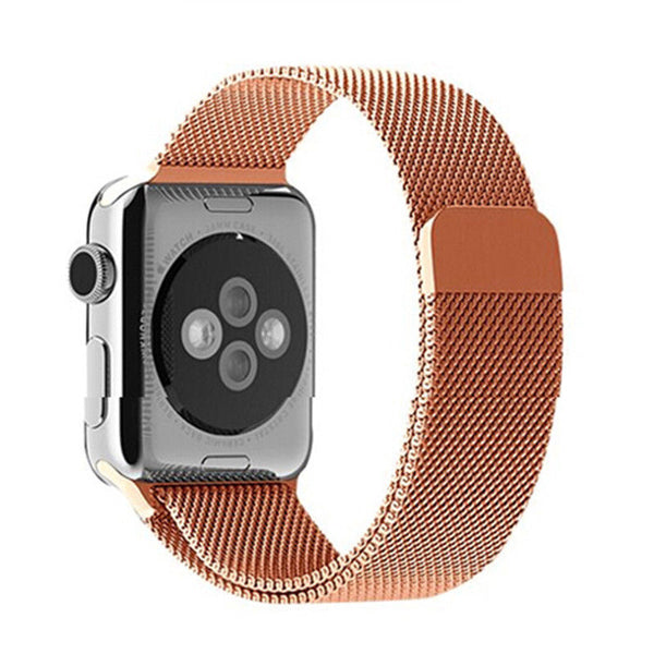 Touch Rage Milanese Loop, Magnetic Closure Clasp, for Series 1 and Series 2 Apple Watch, Rose Gold