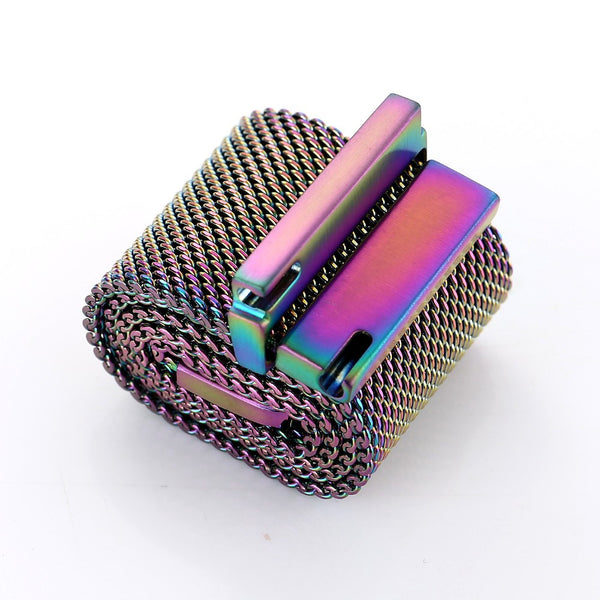 Touch Rage Milanese Loop, Magnetic Closure Clasp, for Series 1 and Series 2 Apple Watch,  Colorful
