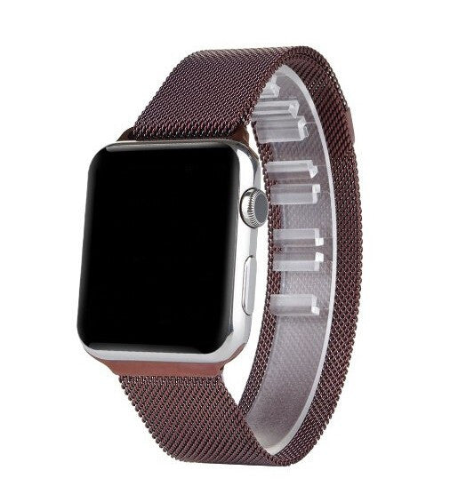 Touch Rage Milanese Loop, Magnetic Closure Clasp, for Series 1 and Series 2 Apple Watch, Mocha