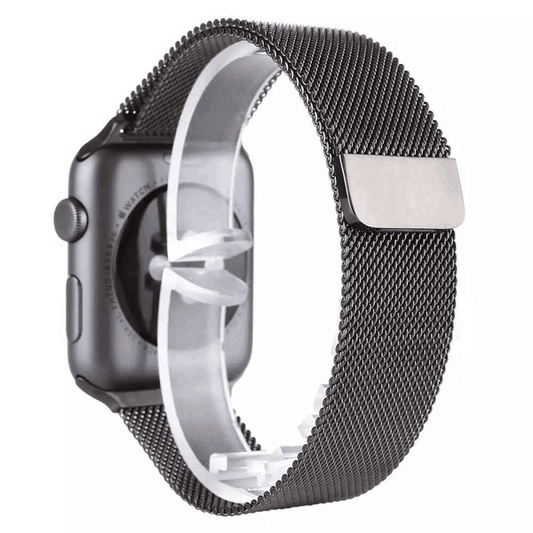 Touch Rage Milanese Loop, Magnetic Closure Clasp, for Series 1 and Series 2 Apple Watch,  Slate Gray