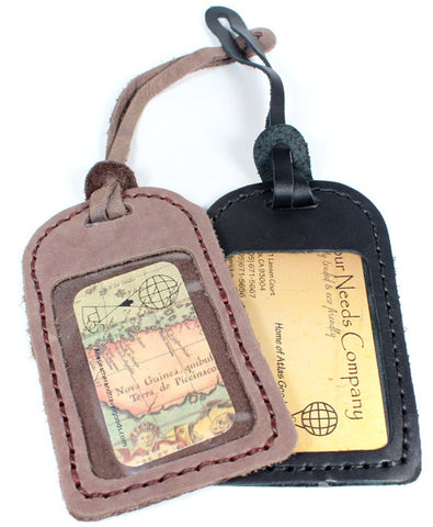 Handmade genuine leather luggage tags : C-916 - Atlas Goods