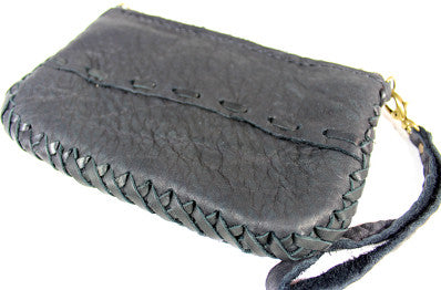 Handmade genuine leather artisan patchwork clutch/ wristlet: CLC-05 - Atlas Goods