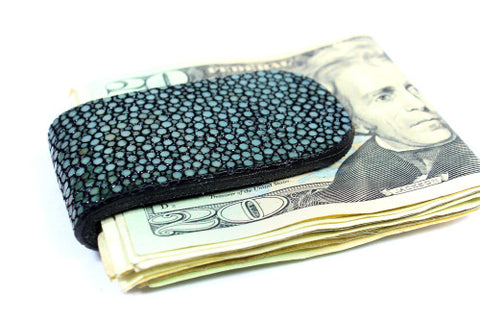 Genuine stingray leather money clip: SR-MC-01 - Atlas Goods