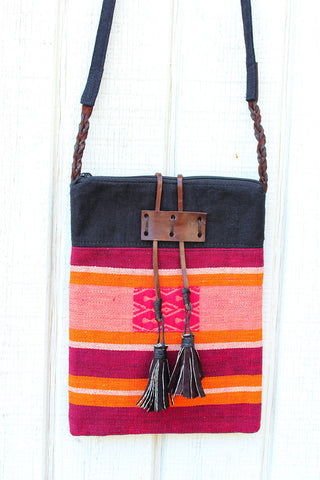 Handmade Naga hill tribe artisan handwoven cotton cross-body bag - Atlas Goods