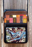 Handmade hill tribe artisan handwoven cotton patchwork passport/ phone holder with ID window - Atlas Goods