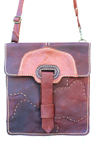 Handmade artisan leather tablet messenger bags bohemian style - Atlas Goods