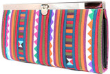 Handmade Lisu hill tribe intricate patchwork wallet with metal frame closure - Atlas Goods