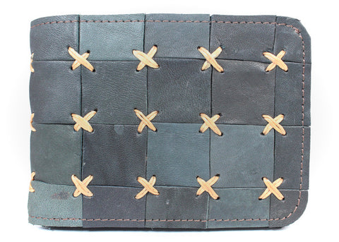 Handmade genuine leather artisan patchwork wallets - Atlas Goods