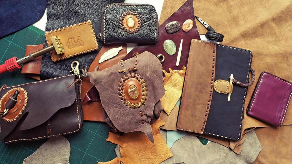 upcycled leather product