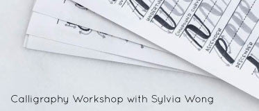 March 26 - Calligraphy Workshop with Sylvia Wong