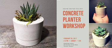 February 26 - Cement Planter Workshop with Trish Bastone 2pm-4pm