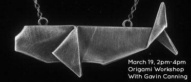 March 19 - Origami Workshop with Gavin Canning 2pm-4pm
