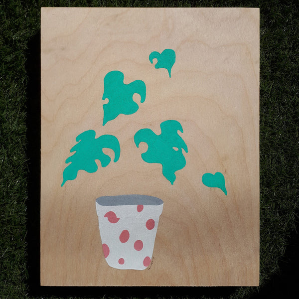 Graeme Luey - Monstera Study - Pink Spotted Pot