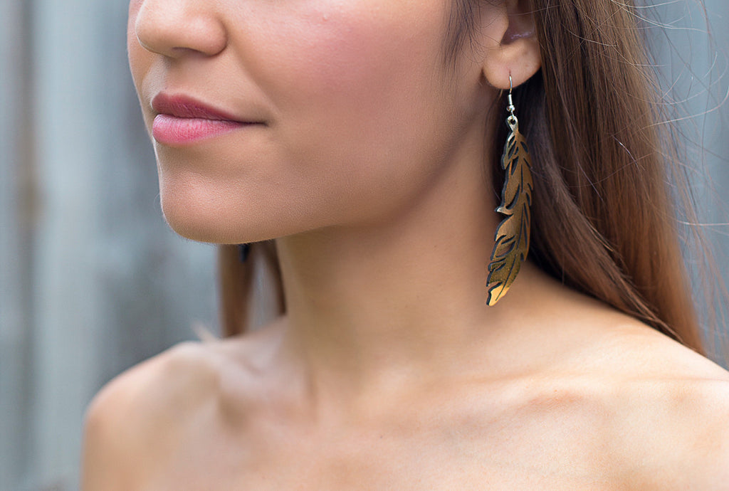 Feather Earring Gold