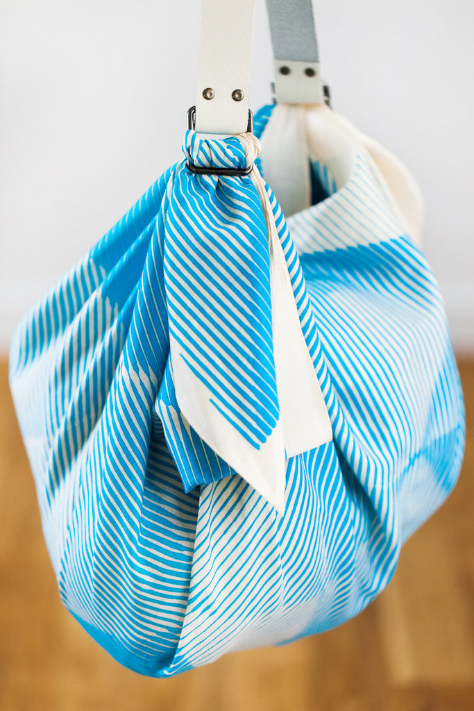 Folded Paper Blue