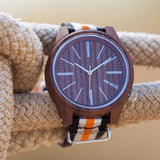 Torpedo Wood Watch - Nut Orange