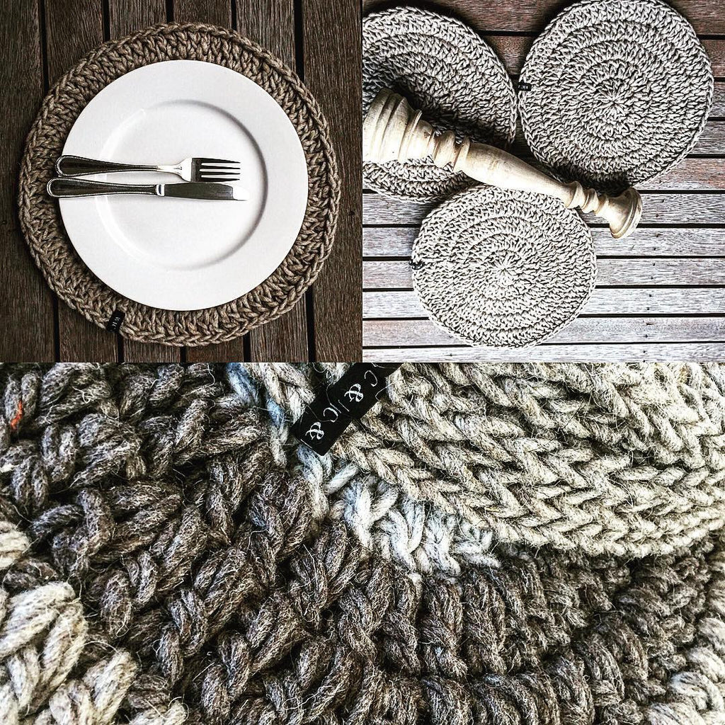 Round Crochet Placemats