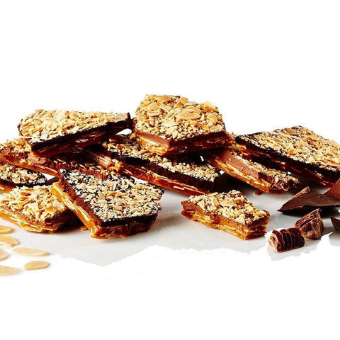 Almond Buttercrunch Toffee with Milk or Dark Chocolate