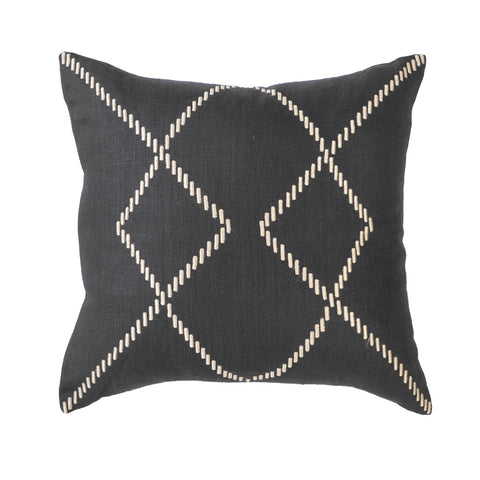 Crop Circles Black Medium Cushion