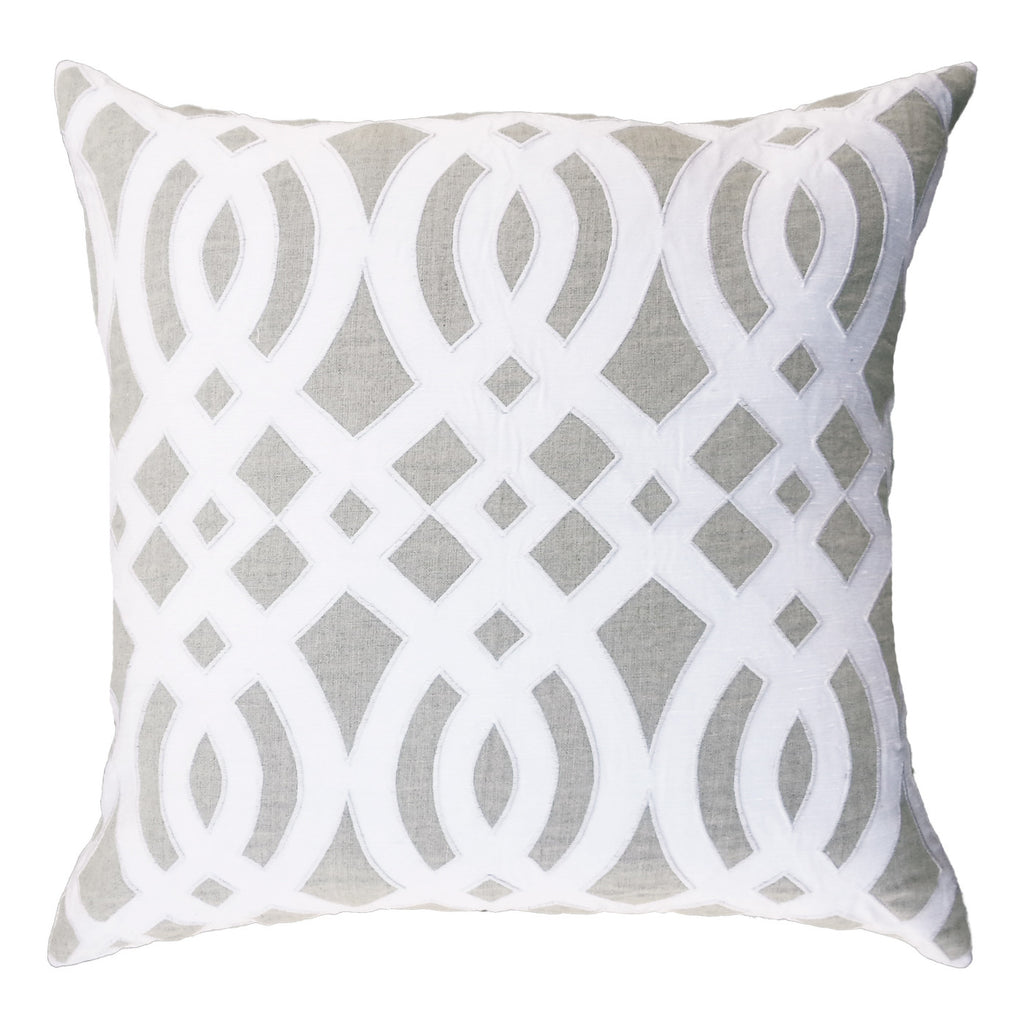 Diamond Scroll Linen Lounge Cushion