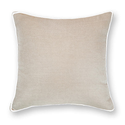 Piped Linen Natural Lounge Cushion