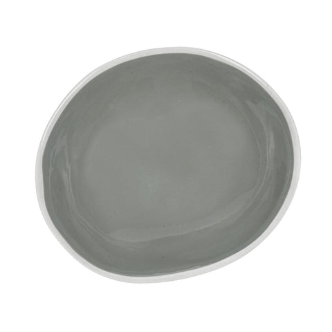 Small Oval Bowl in Light Grey (2Tone Collection)