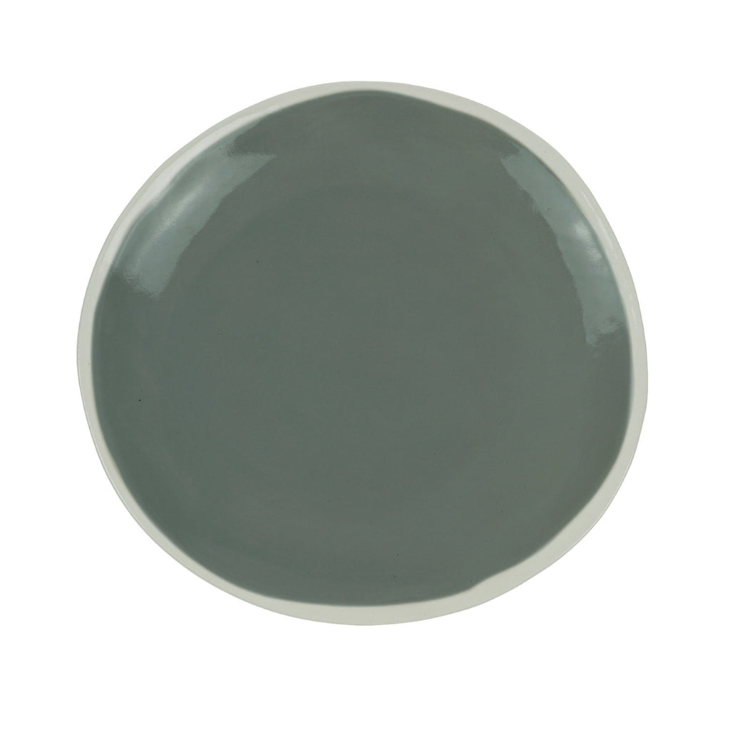 Medium Plate in Light Grey (2Tone Collection)