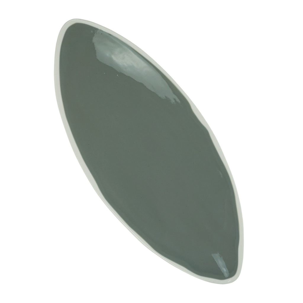 Oval Platter in Light Grey (2Tone Collection)