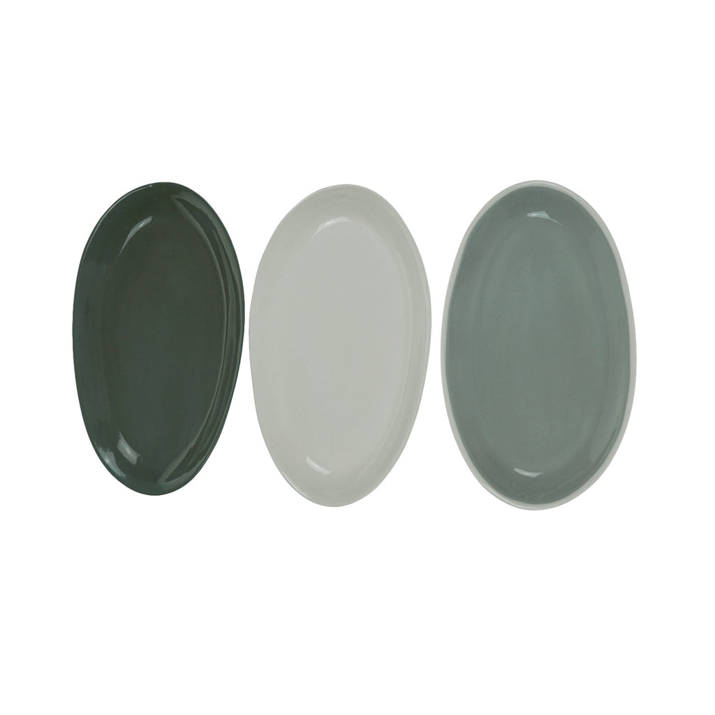 Small Oval Plate in White (Eucalypt Range)