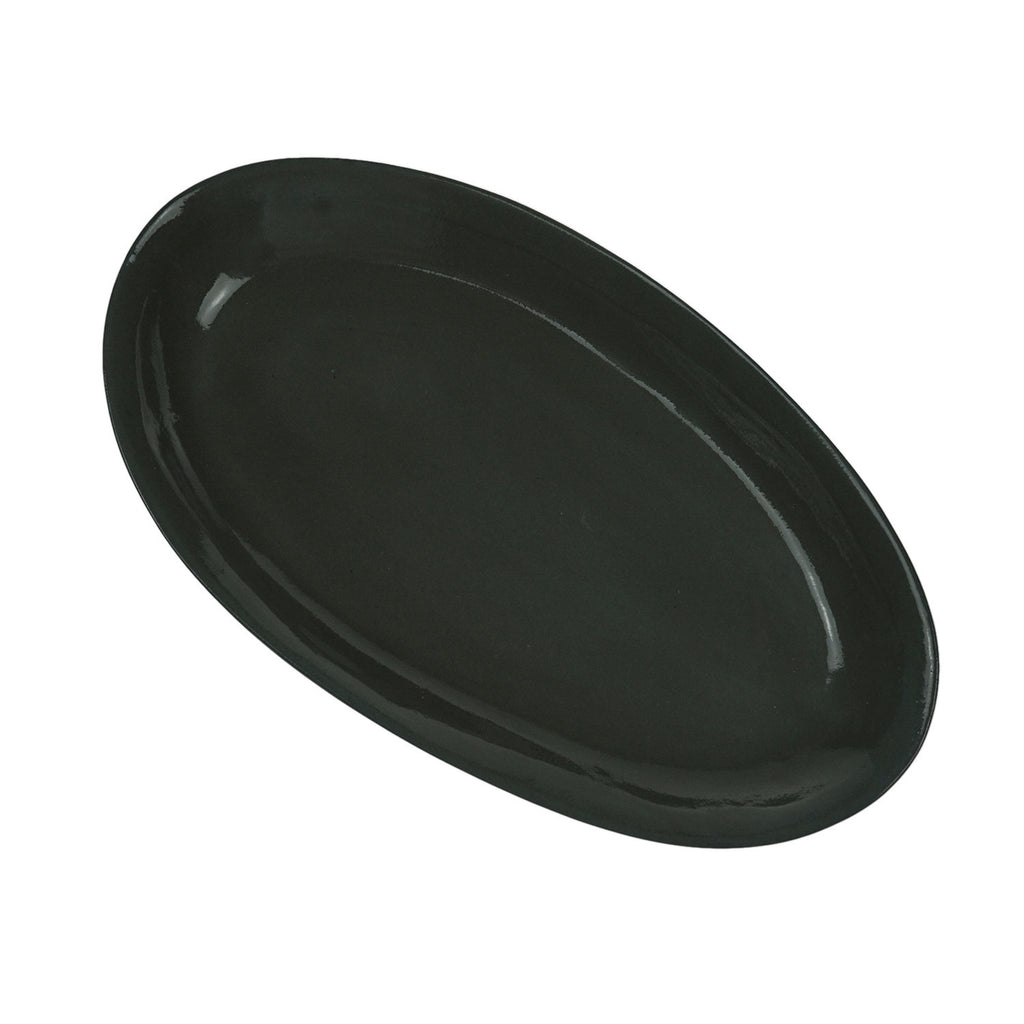 Medium Oval Plate in Grey (Eucalypt Range)
