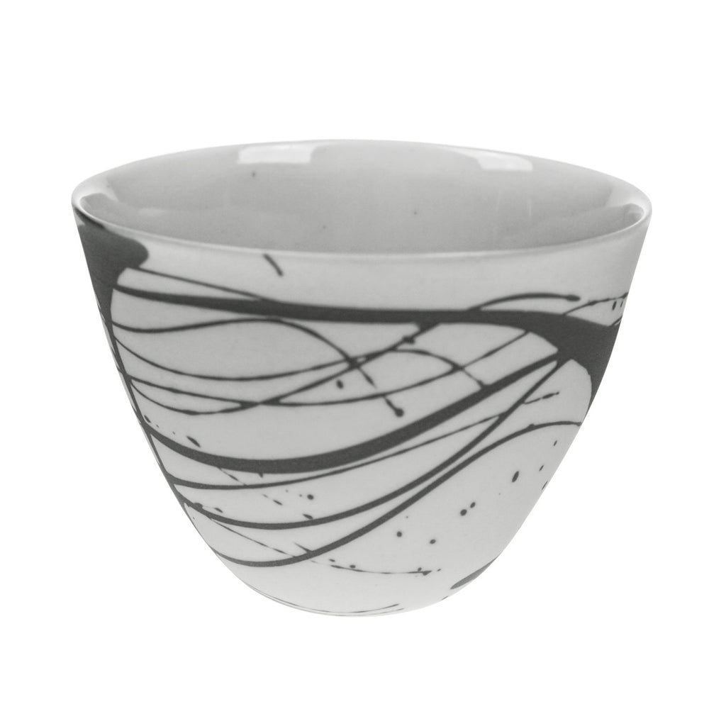 Round Bowl in Grey (Scribble Collection)