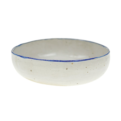 Moon Bowl - Blue Rim