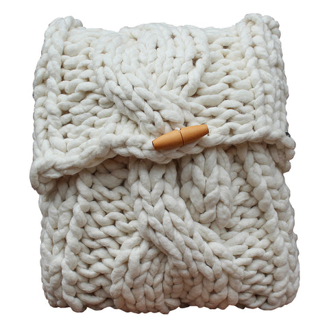 Aran Cable Cushion Cover