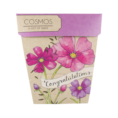 Congratulations Cosmos Gift of Seeds