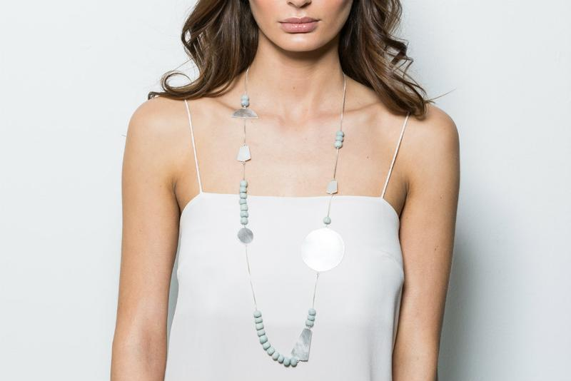 Sabah Necklace - Pale Seaspray & Silver