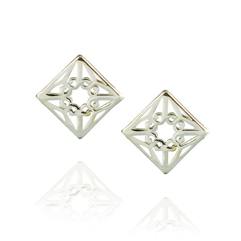Lao Studs - Sterling Silver
