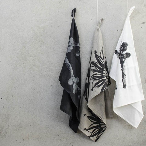 Star Flower Linen Tea Towel