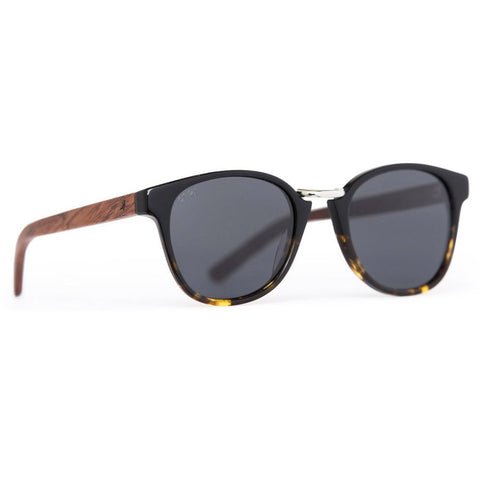Ada Wood Sunglasses - Black Tortoise Polarised