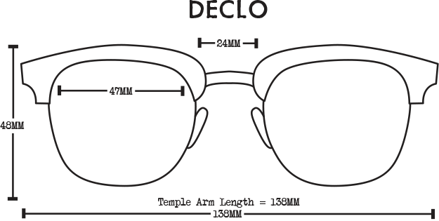 Declo Wood Sunglasses - Black Maple Polarised