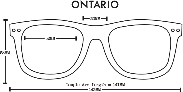 Ontario Wood Sunglasses - Stained Bamboo Grey