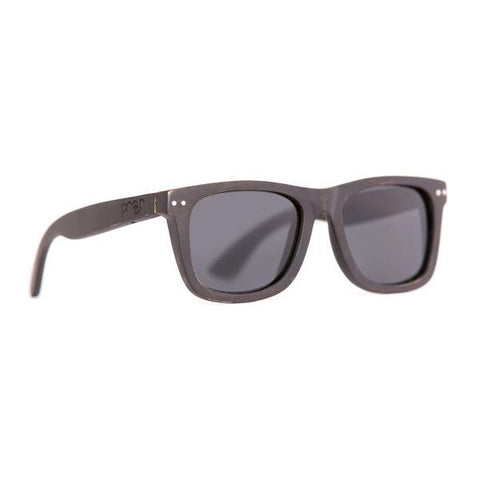 Ontario Wood Sunglasses - Black Maple Polarised
