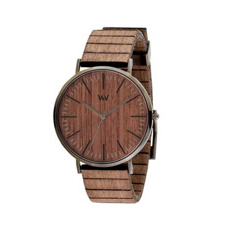 Horizon Nut Gun Wood Watch
