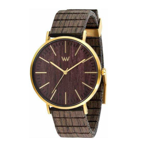 Horizon Gold Ebony Wood Watch