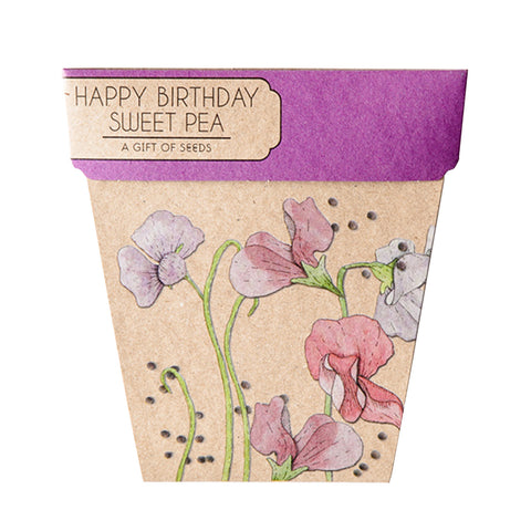 Happy Birthday Sweet Pea Gift of Seeds